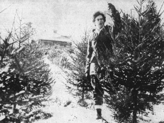 This photo of Miss Jane Axline, owner of the only Christmas