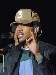 Chance the Rapper performs at the National Christmas