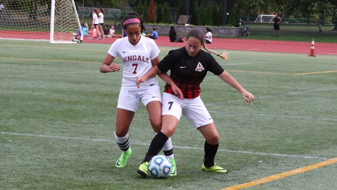 Mia Nalic (left) helped Bloomfield improve its offensive attack this season.