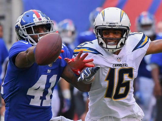 USP NFL: LOS ANGELES CHARGERS AT NEW YORK GIANTS S FBN NYG LAC USA NJ