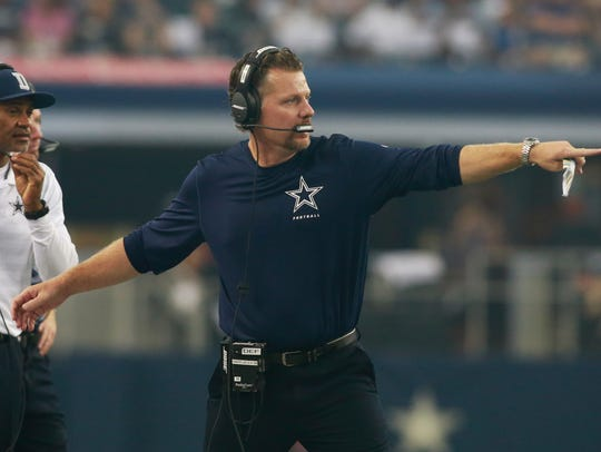 """He had such an impact on us,"" Dallas coach Jason Garrett said of Matt Eberflus' time with the Cowboys. ""He just has a great feel for coaching individuals, coaching the position group and then coaching the entire defense. There was no doubt in my mind that this was the path that he was going to continue to take in his career."""
