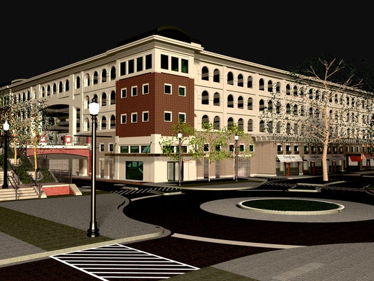 The Park East Garage is the lynch pin of the new phase of construction at City Center. The public garage will have four levels and 620 parking spaces. The first-floor of the building will be wrapped with 28,000 square feet of residential and commercial space.