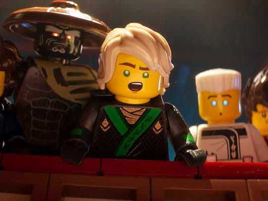 Lloyd (voiced by Dave Franco, center) and his friends