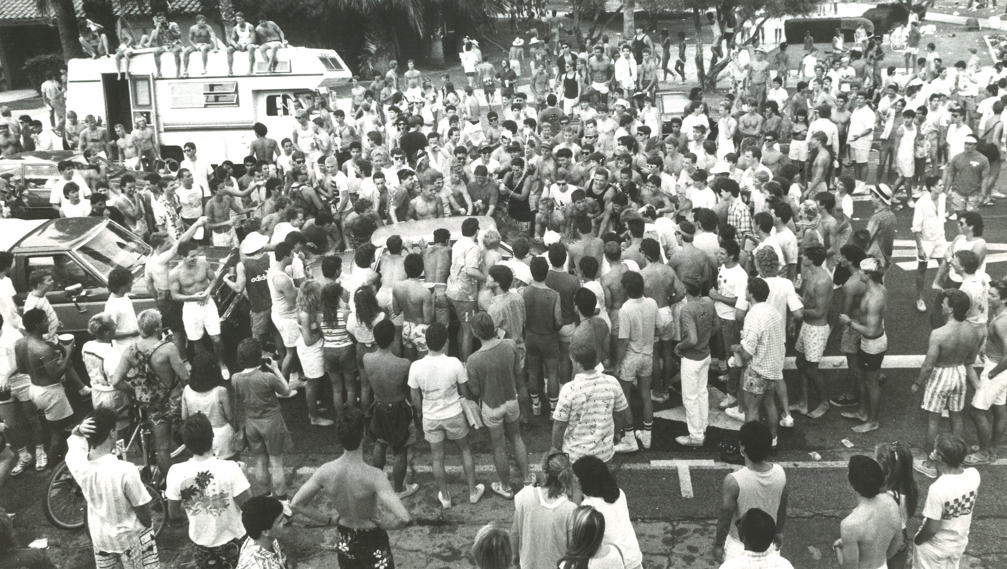 In 1986, a spring break riot changed Palm Springs. Here is the video.