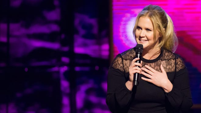 "Amy Schumer appears Feb. 28 at Comedy Central's ""Night of Too Many Stars: America Comes Together for Autism Programs"" at the Beacon Theatre in New York."