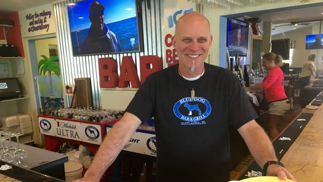 Executive chef and co-owner Jesse Tincher of Blue Dog Bar & Grill on Matlacha.