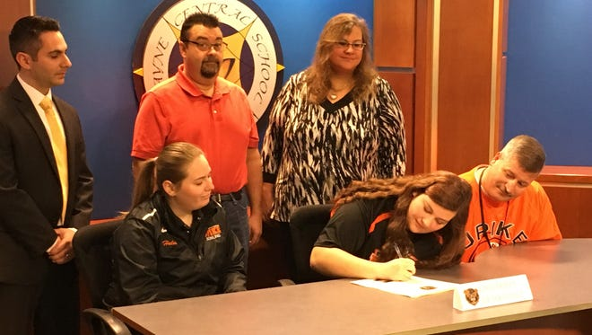 Wayne senior Rachel Selner, signing her letter of intent to bowl at University of Pikeville in eastern Kentucky