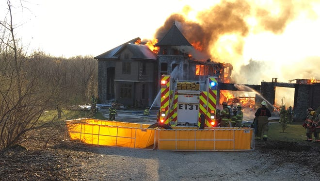 A fire damaged this home on the 3900 block of Starry Night Lane near Solon on March 28.