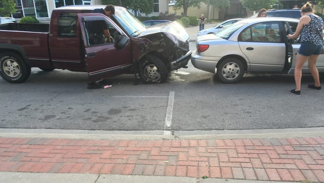 The suspect vehicle in a fatal crash on Friday was stopped on Military Street just south of Water Street after hitting another vehicle.