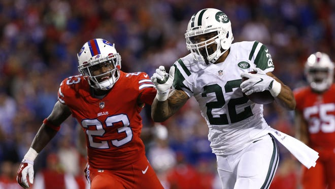 Jets running back Matt Forte has been a workhorse on offense, ranking second in the league with 196 yards on 53 carries.