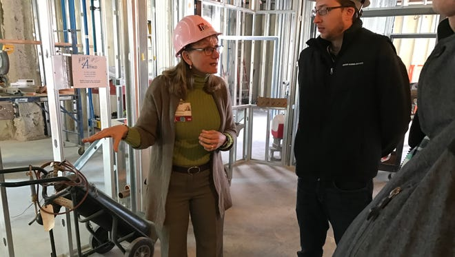 DeAnn Thurmer, Waupun Memorial Hospital chief operating officer, explains new technology that will come with a new private patient room expansion, including sophisticated monitoring systems in the Intensive Care Unit.