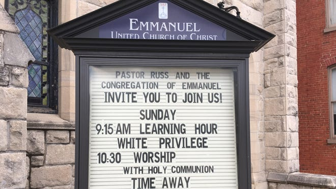 Emmanuel United Church of Christ in Hanover held a series of discussions on white privilege Sundays before church this winter.