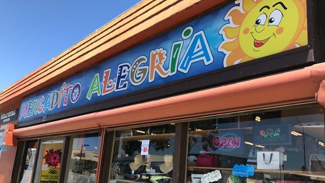 Mercadito Alegria, local market, at 727 East Alisal Street, in Salinas.