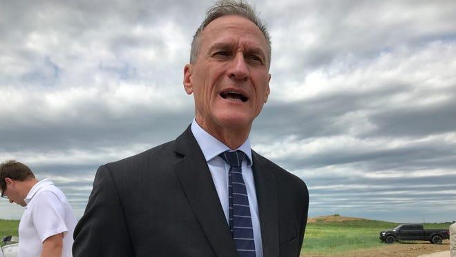 Gov. Dennis Daugaard spoke to Argus Leader Media Thursday in Sioux Falls.