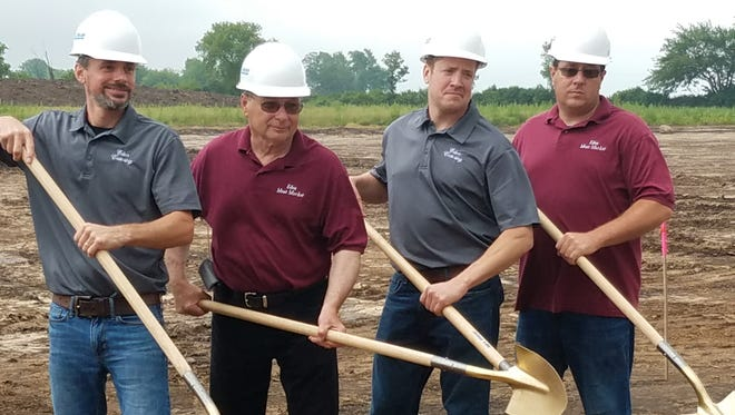 Pictured, from left, with ceremonial shovels, are Jeff Duehring, Cal Herrmann, Mike Herrmann and Chris Herrmann. Owners absent from the photo are Dustin Duehring and Cindy Herrmann.