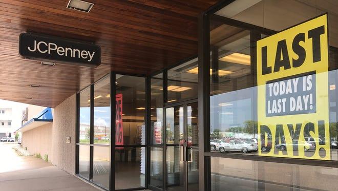 J.C. Penney on its last day open in Wisconsin Rapids. Photo taken July 31, 2017.