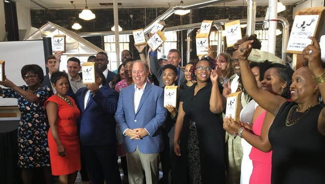 Detroit Mayor Mike Duggan announced the latest recipients of cash grants from the Motor City Match program on Monday Aug., 14, 2017