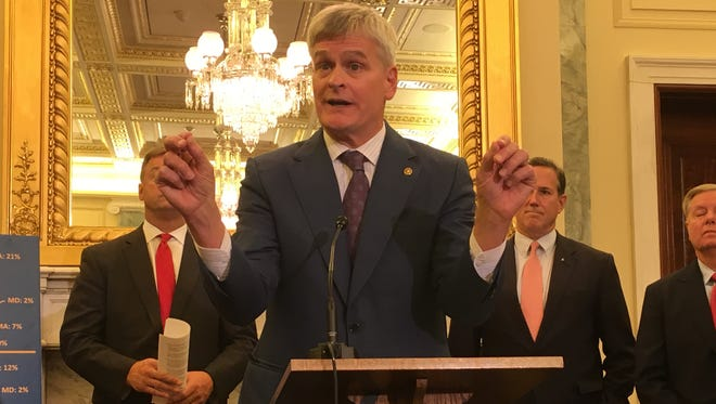 Sen. Bill Cassidy joined other Republicans at a press conference Sept. 13 to unveil their bill to repeal the Affordable Care Act.