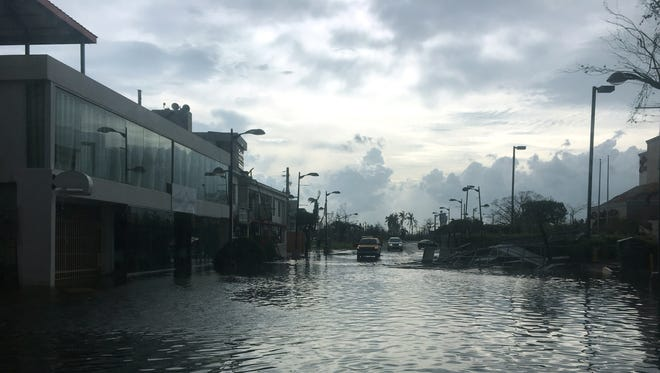 Streets and highways around San Juan were turned into rivers after Hurricane Maria barreled through Puerto Rico.