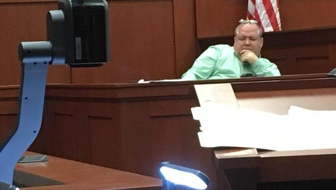 Nick Geaney testifies Thursday in the Mitch Needelman corruption trial.