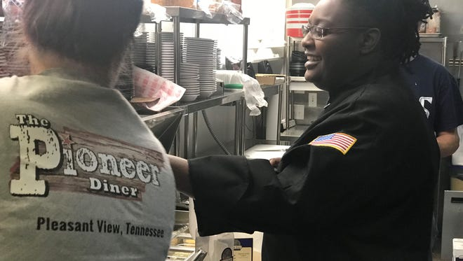 Starlet Maye, a chef at the Pioneer Diner in Pleasant View, is prepping to boil down 20 years of cooking experience into one dish to impress the judges at her audition for the Fox-network cooking competition show MasterChef in Nashville on Saturday.