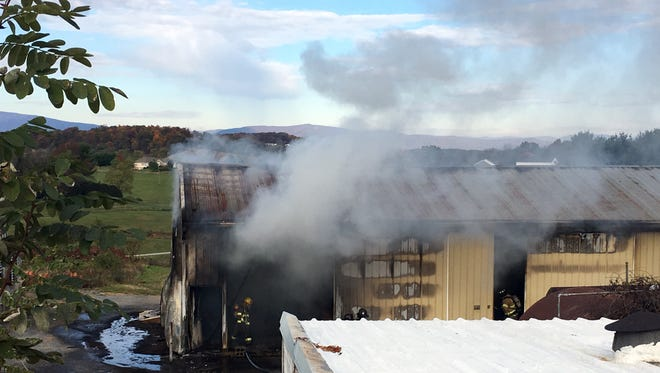 Warehouse fire Nov. 2 on Old Greenville Road.