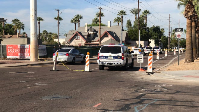 Phoenix police were at the scene of an officer-involved shooting that left one person dead near Third Street and Culver Avenue, near Margaret T. Hance Park in downtown Phoenix.