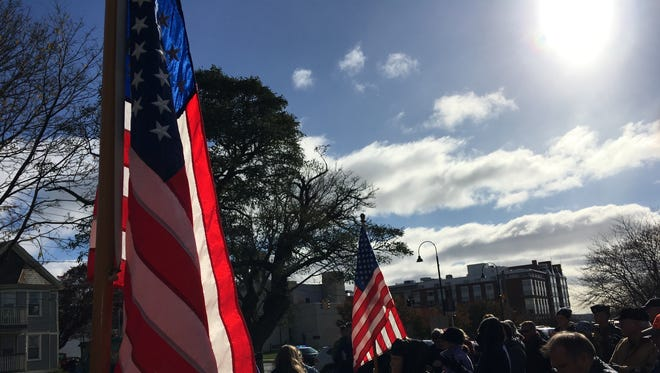 The annual Veterans Day celebration took place in Burlington's Battery Park on Nov. 11, 2017.