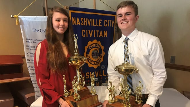 Ezell-Harding's Caitlyn Brooke Parsons and University School of Nashville's Drew Dibble were named the recipients of the Moss-Oliver Award on Wednesday.