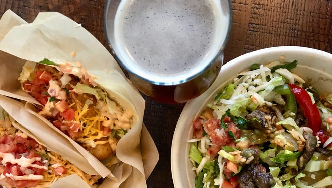 Chronic Tacos pairs well with a local craft beer from the adjoining Marlins Brewhouse.