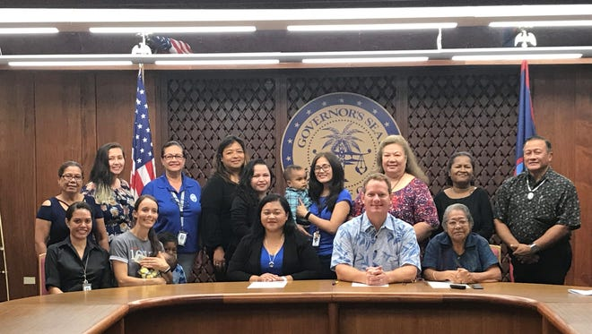 The foster community came together for aproclamation signingheld at Adelup in recognitionof the Month of May as Foster Care Month.