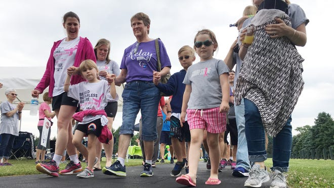 Relay For Life, the signature fundraiser for the American Cancer Society, was held Saturday at Conner Park. Survivors of cancer and their caregivers walked the first lap around the park.