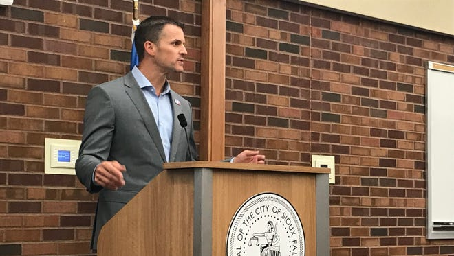 Mayor Paul TenHaken delivered his 2019 budget address to the Sioux Falls City Council.