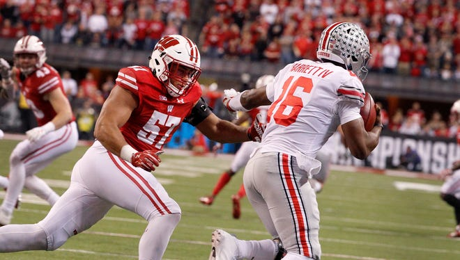 Badgers defensive end Alec James hopes to boost his stock in the NFL draft by playing in the East-West Shrine Classic Saturday.