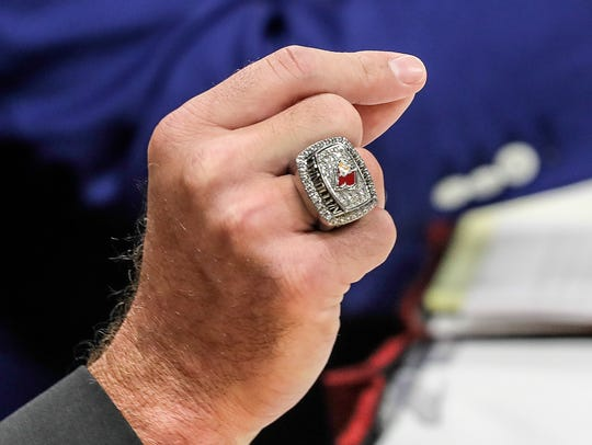 Luke Hancock's championship ring, which he wore to
