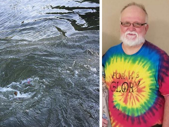 Donald Wright died while trying to help 2 others caught near Spring River sinkhole whirlpool.