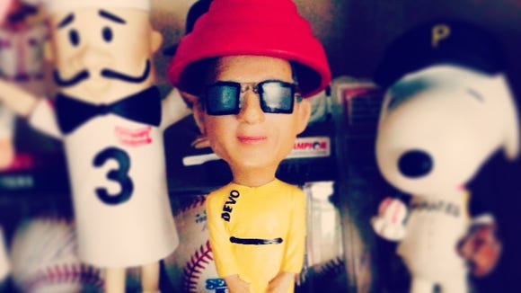 Devo bobblehead from the Akron Rubber Ducks