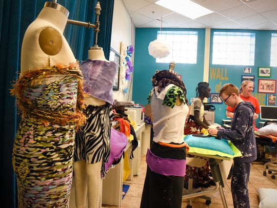 Fashion pieces are prepared for the upcoming showcase