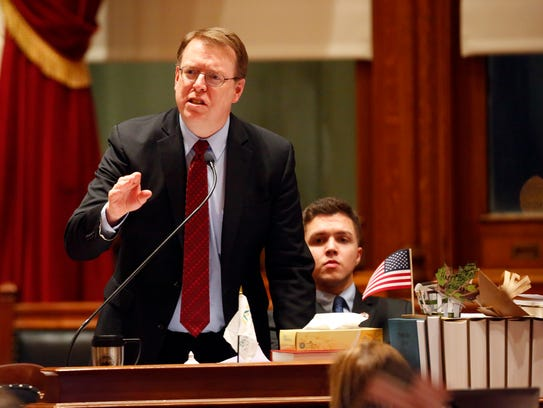 Iowa state senator Rob Hogg debates SF 2383 ways and