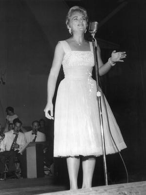 Anita Wood was the grand winner in the 1954 Youth Talent contest at the Mid-South Fair.   She was also first alternate to the Fairest of the Fair in 1956.