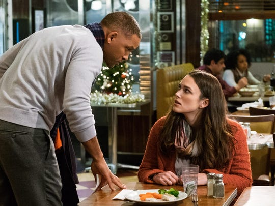 "Will Smith and Keira Knightley in ""Collateral Beauty."""