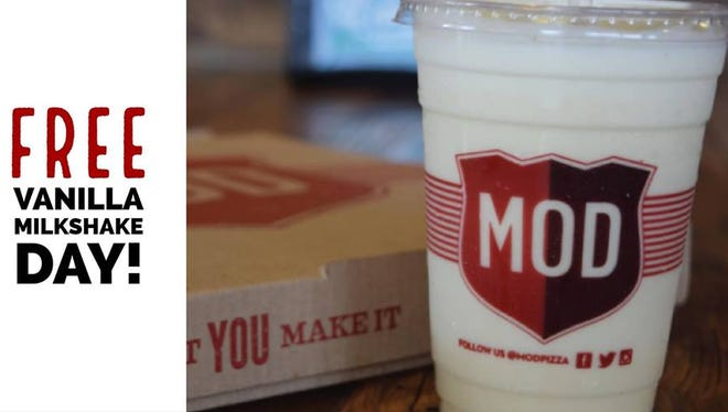"""Dubbed """"FREE VANILLA MILKSHAKE DAY,"""" Mod Pizza in Evansville is giving a way free vanilla milkshakes."""