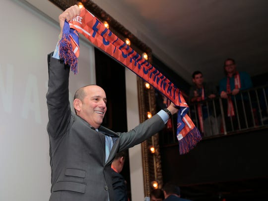 Major League Soccer commissioner Don Garber takes questions