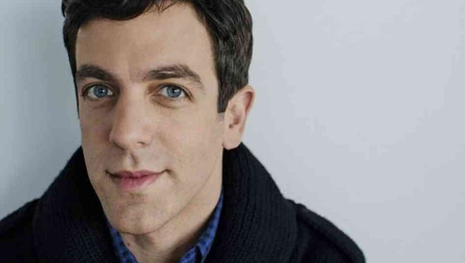 B.J. Novak performs Saturday at the University of Rochester.