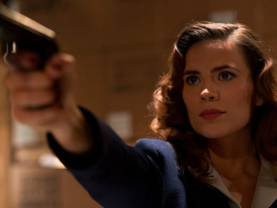 "Hayley Atwell stars in ""Marvel's Agent Carter,"" which"