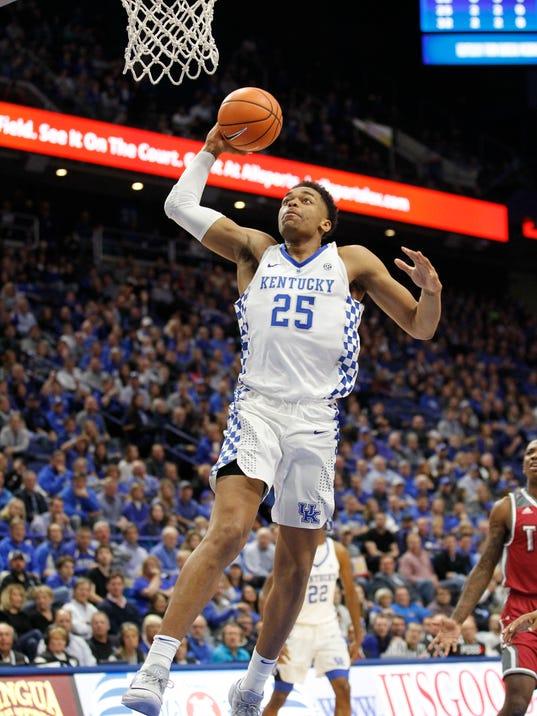 NCAA Basketball: Troy at Kentucky