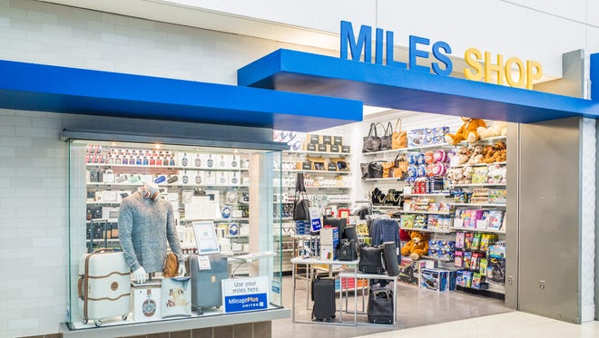 An undated file photo of the 'Miles Shop' at Newark Liberty  Airport.