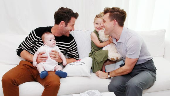 Huggies Made by You launches its first-ever personalized diaper with fashion-inspired diaper collections at a baby celebration for interior designers and husbands Nate Berkus and Jeremiah Brent as they celebrate the newest addition to their family Oskar Brent-Berkus.