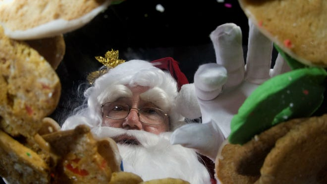 No one loves cookies more than Santa