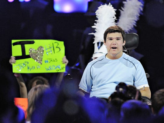 Jack Jablonski appeared during We Day 2013 in St. Paul.